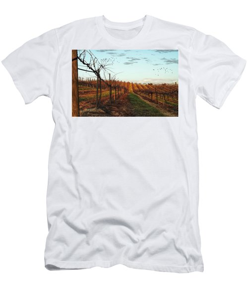 California Vineyard In Winter Men's T-Shirt (Athletic Fit)