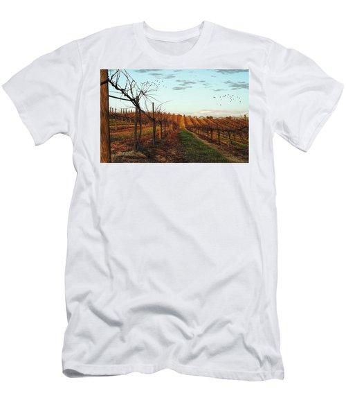California Vineyard In Winter Men's T-Shirt (Athletic Fit)
