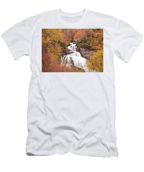 Callasaja Falls- North Carolina 2 Men's T-Shirt (Slim Fit) by Penny Lisowski