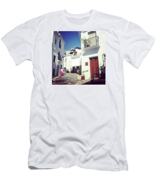 Calles De Frigiliana, Pueblo Blanco De Malaga - Spain Men's T-Shirt (Athletic Fit)