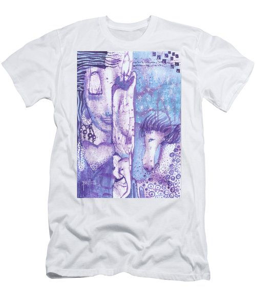Calling Upon Spirit Animals Men's T-Shirt (Athletic Fit)