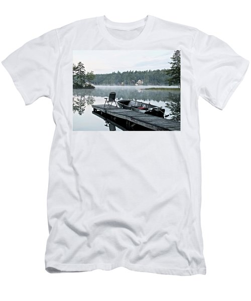 Calm Morning On Little Sebago Lake Men's T-Shirt (Athletic Fit)