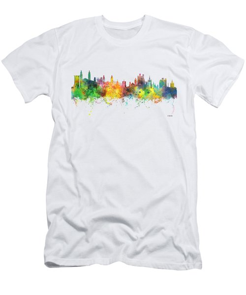 Cambridge England Skyline Men's T-Shirt (Slim Fit) by Marlene Watson
