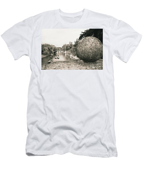 Men's T-Shirt (Slim Fit) featuring the photograph Cambridge Punting  by Eden Baed