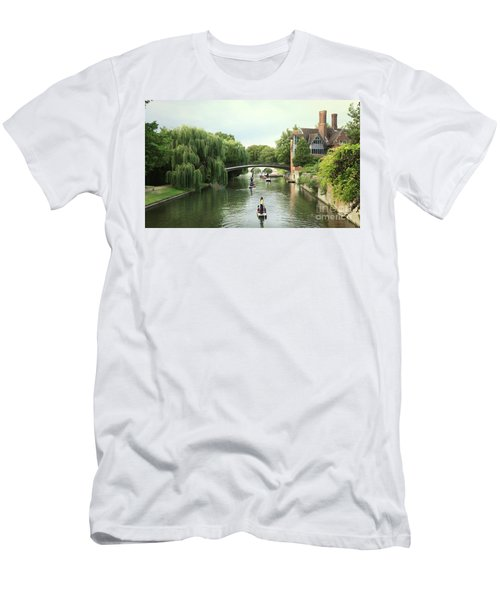 Men's T-Shirt (Slim Fit) featuring the photograph Cambridge River Punting by Eden Baed
