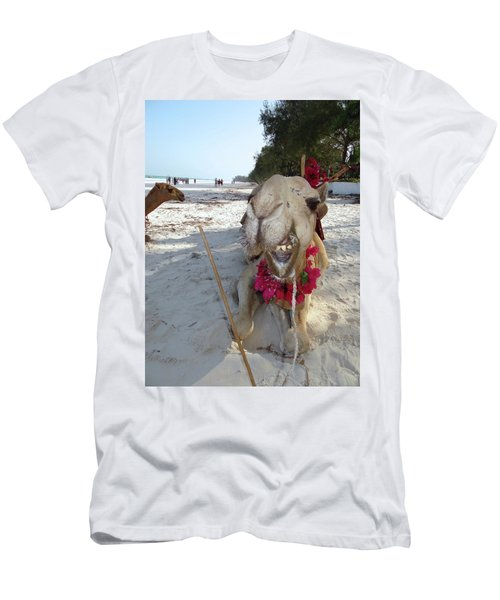 Camel On Beach Kenya Wedding2 Men's T-Shirt (Athletic Fit)