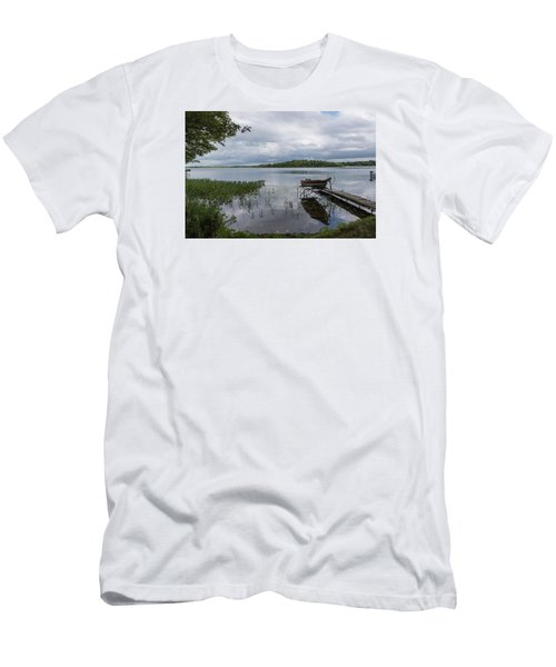 Camelot Island From Wilderness Point Men's T-Shirt (Slim Fit) by Gary Eason