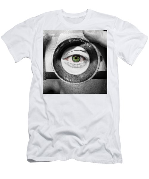 Camera Face Men's T-Shirt (Athletic Fit)