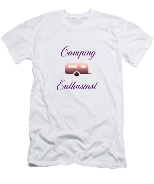 Men's T-Shirt (Athletic Fit) featuring the digital art Camping Enthusiast by Judy Hall-Folde