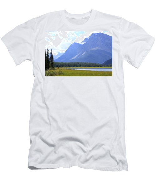 Canadian Mountains Men's T-Shirt (Slim Fit) by Catherine Alfidi