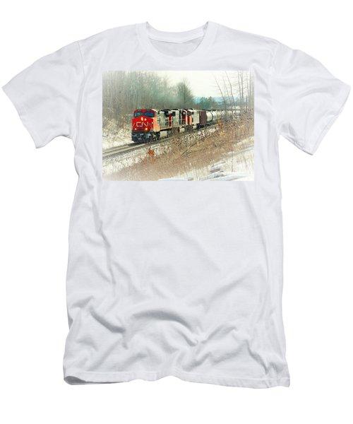 Canadian National Railway Vignette Men's T-Shirt (Athletic Fit)