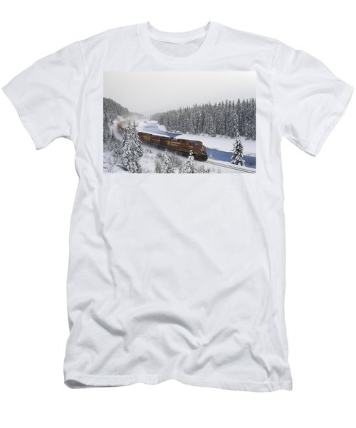 Canadian Pacific Train At Morants Curve Men's T-Shirt (Athletic Fit)