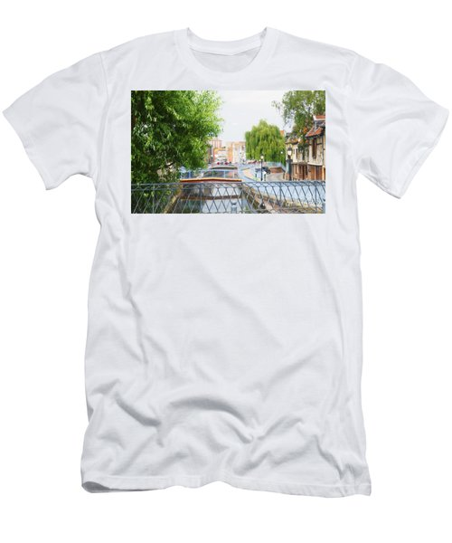 Men's T-Shirt (Slim Fit) featuring the photograph Canal View In Amiens by Therese Alcorn