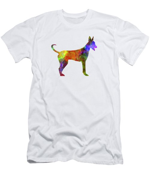 Canarian Warren Hound In Watercolor Men's T-Shirt (Slim Fit)