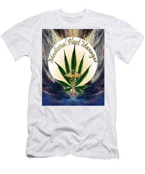 Cannabis Medicinal Plant Men's T-Shirt (Slim Fit) by Michele Avanti