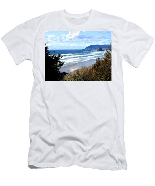 Cannon Beach Vista Men's T-Shirt (Athletic Fit)