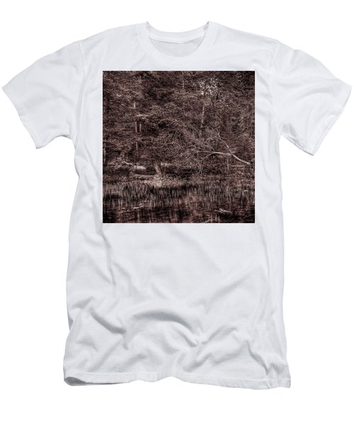Canoe In The Adirondacks Men's T-Shirt (Slim Fit) by David Patterson
