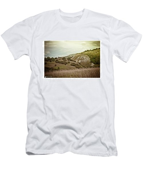 #canon #clouds #sky #kyffhaeuser Men's T-Shirt (Athletic Fit)