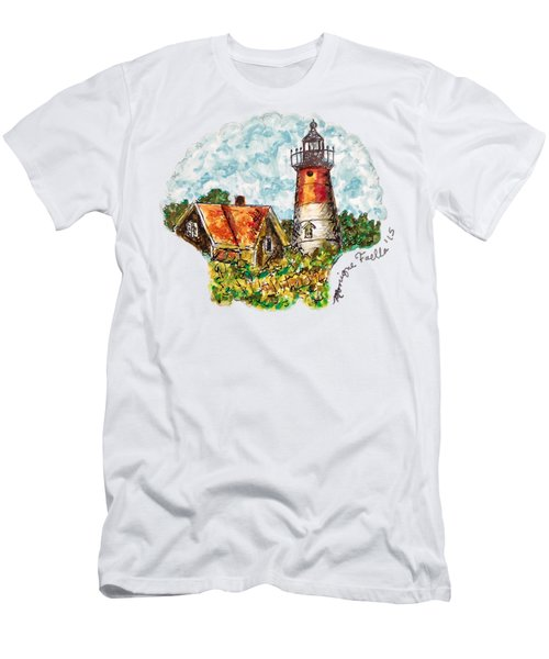 Cape Cod Lighthouse Men's T-Shirt (Athletic Fit)