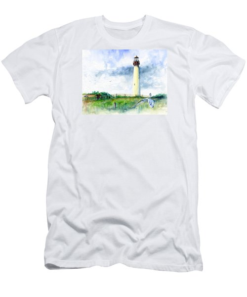 Cape May Lighthouse Men's T-Shirt (Slim Fit) by John D Benson