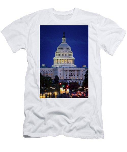 Capitol At Dusk Men's T-Shirt (Athletic Fit)