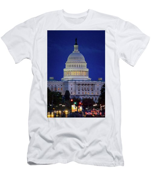 Capitol At Dusk Men's T-Shirt (Athletic Fit)