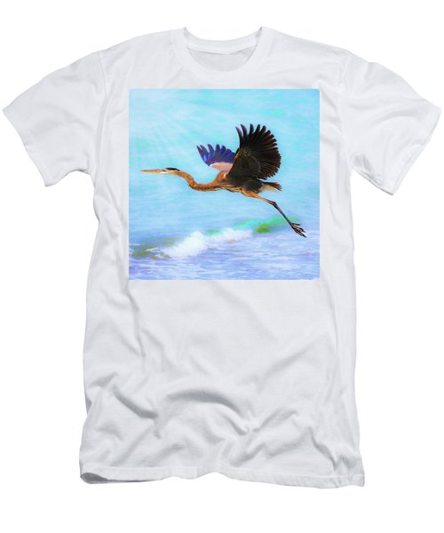 Captiva Crane In Flight Men's T-Shirt (Athletic Fit)