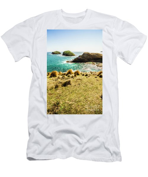 Captivating Coastal Cliff Men's T-Shirt (Athletic Fit)