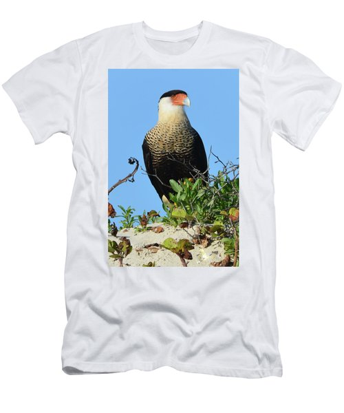 Caracara Portrait Men's T-Shirt (Slim Fit) by Debra Martz