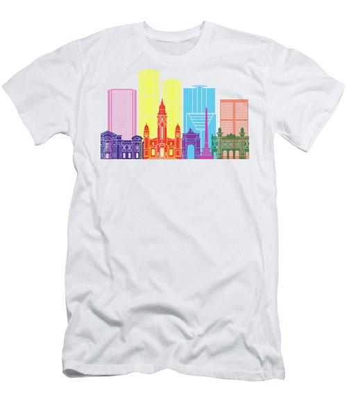 Caracas V2 Skyline Pop Men's T-Shirt (Athletic Fit)