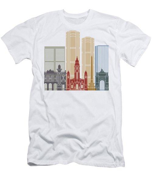 Caracas V2 Skyline Poster Men's T-Shirt (Athletic Fit)