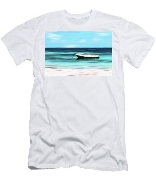Caribbean Dream Boat Men's T-Shirt (Slim Fit) by Deborah Smith