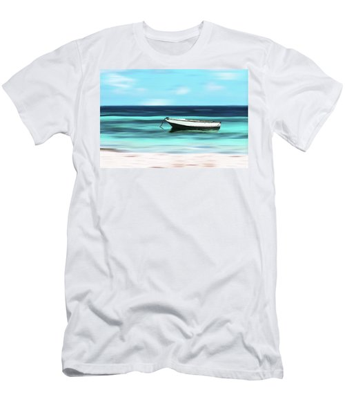 Caribbean Dream Boat Men's T-Shirt (Athletic Fit)