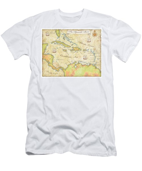 Caribbean Map - Good Men's T-Shirt (Athletic Fit)