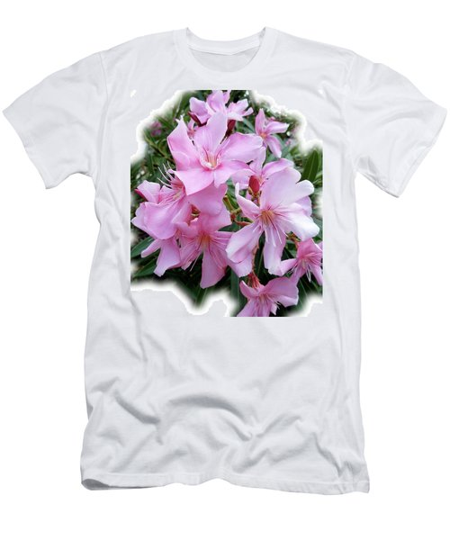 Men's T-Shirt (Slim Fit) featuring the photograph Caribbean Oleander by Marie Hicks
