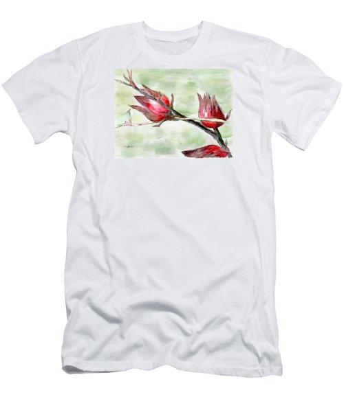 Caribbean Scenes - Sorrel Plant Men's T-Shirt (Slim Fit) by Wayne Pascall