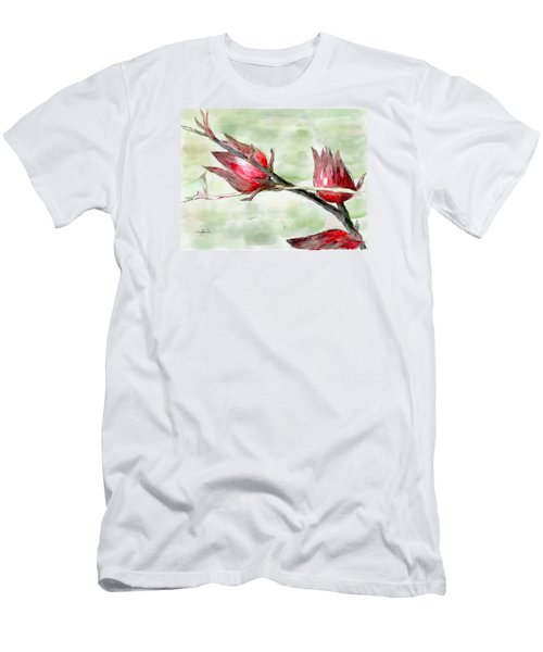Caribbean Scenes - Sorrel Plant Men's T-Shirt (Athletic Fit)