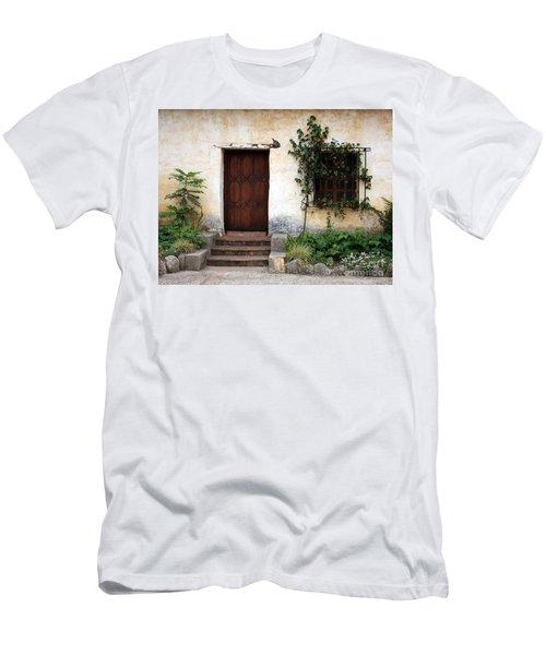 Carmel Mission Door Men's T-Shirt (Athletic Fit)
