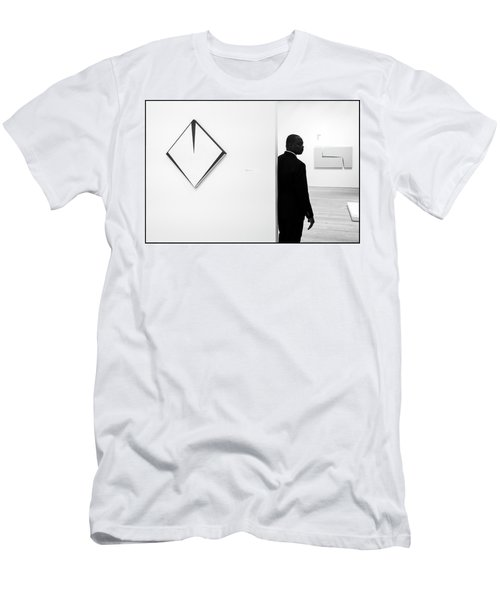 Carmen Herrera At The Whitney 1 Bw Men's T-Shirt (Athletic Fit)