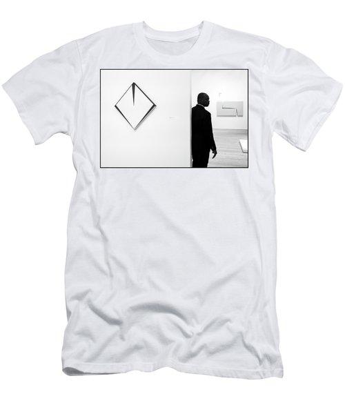 Carmen Herrera At The Whitney 1 Bw Men's T-Shirt (Athletic Fit)