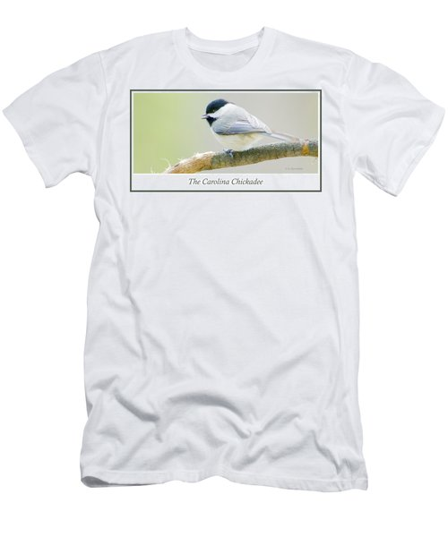 Carolina Chickadee, Animal Portrait Men's T-Shirt (Slim Fit) by A Gurmankin