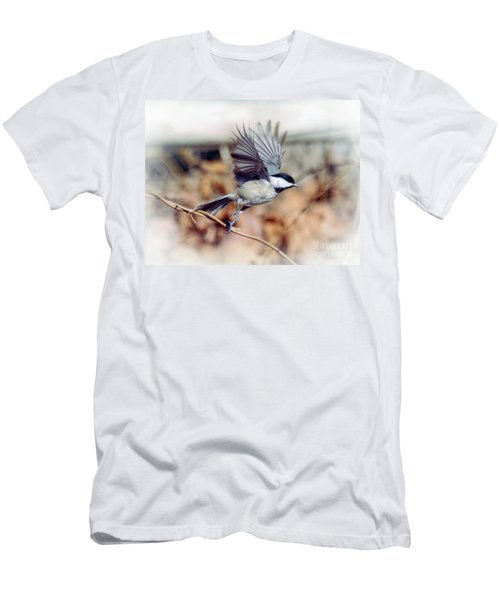 Carolina Chickadee - Come Fly With Me  Men's T-Shirt (Athletic Fit)