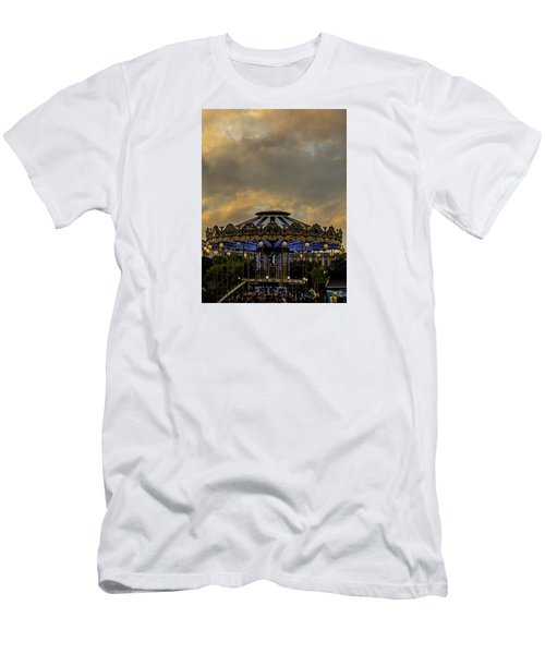 Carousel By The Eiffel Tower Men's T-Shirt (Athletic Fit)