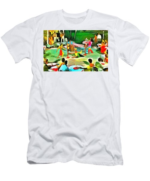 Carribean Scenes - Calypso And Limbo Men's T-Shirt (Slim Fit) by Wayne Pascall