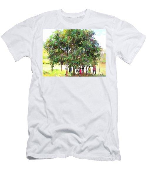 Carribean Scenes - Under De Mango Tree Men's T-Shirt (Slim Fit) by Wayne Pascall