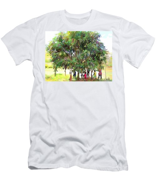 Carribean Scenes - Under De Mango Tree Men's T-Shirt (Athletic Fit)