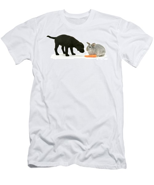 Men's T-Shirt (Athletic Fit) featuring the photograph Carrots Are For Pups, Too by Warren Photographic