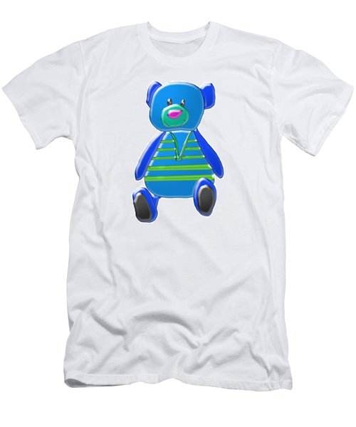 Men's T-Shirt (Slim Fit) featuring the digital art Cartoon Bear In Sweater Vest by Karen Nicholson