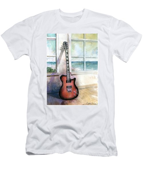 Men's T-Shirt (Athletic Fit) featuring the painting Carvin Electric Guitar by Andrew King