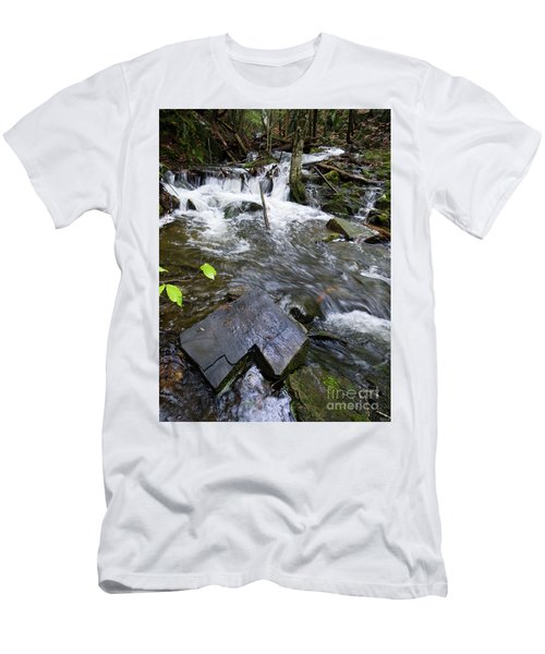 Cascade Falls Stream, Farmington, Maine  -30329 Men's T-Shirt (Athletic Fit)